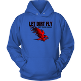 Let Dirt Fly Flaming Eagle Dirt Track Racing Hoodie - Turn Left T-Shirts Racewear