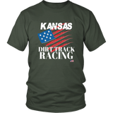 Kansas Dirt Track Racing USA T-Shirt - Turn Left T-Shirts Racewear