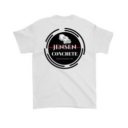 Jensen Concrete inc. T-Shirt ( FRONT & BACK PRINT) - Turn Left T-Shirts Racewear