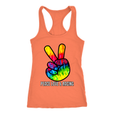 Peace Love & Racing Tank Top - Turn Left T-Shirts Racewear