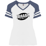 BRAAAP Ladies' Game V-Neck T-Shirt - Turn Left T-Shirts Racewear