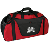 Race Quote Colorblock Sports Duffel Gear Bag MEDIUM - Turn Left T-Shirts Racewear