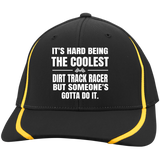 Coolest Dirt Track Racer Flexfit Colorblock Cap - Turn Left T-Shirts Racewear