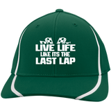 Live Life Quote Flexfit Colorblock Cap - Turn Left T-Shirts Racewear