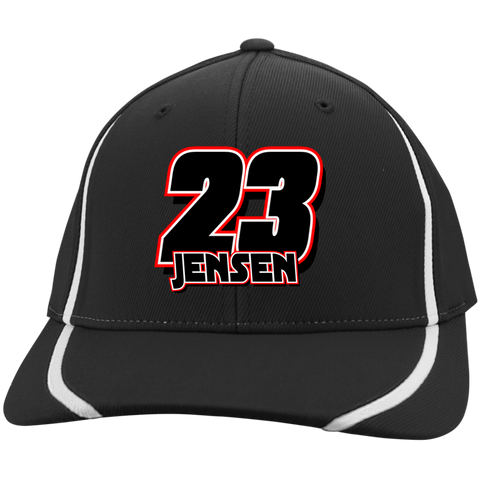 Jensen Racing 23 Flexfit Colorblock Cap (ORANGE) - Turn Left T-Shirts Racewear