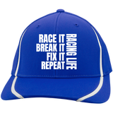 Race It Break It Fix It Flexfit Colorblock Cap - Turn Left T-Shirts Racewear