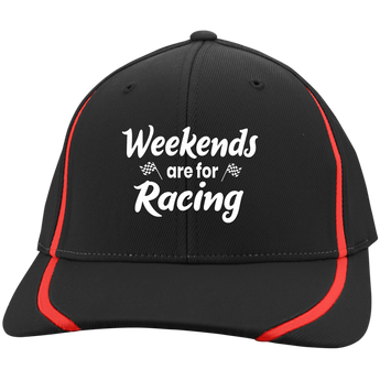 Weekends Are For Racing Flexfit Colorblock Cap - Turn Left T-Shirts Racewear