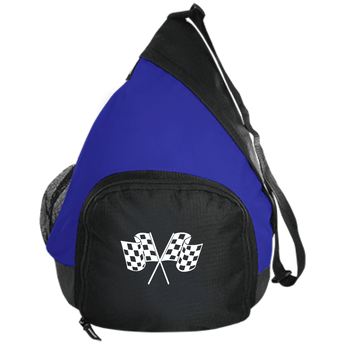 Checkered Flag Active Sling Pack Race Bag - Turn Left T-Shirts Racewear