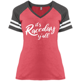 I't Raceday Ladies'  Game V-Neck T-Shirt - Turn Left T-Shirts Racewear