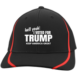 Hell Ya I Voted For Trump Flexfit Colorblock Cap - Turn Left T-Shirts Racewear