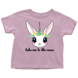 Take Me To The Races Unicorn Toddler T-Shirt - Turn Left T-Shirts Racewear