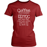 Coffee Spelled Backwards T-Shirt - Turn Left T-Shirts Racewear