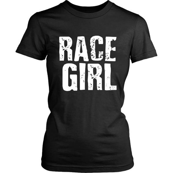 Race Girl Distressed Bold T-Shirt