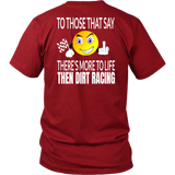 Insult Emoji To Those That Say T-Shirt - Turn Left T-Shirts Racewear
