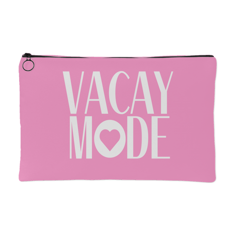 Vacay Mode Cosmetic Makeup Pouch - Turn Left T-Shirts Racewear