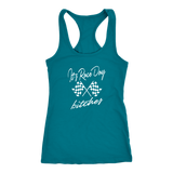 It's Raceday Bitches Racerback Tank Top - Turn Left T-Shirts Racewear
