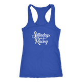 Saturdays Are For Racing Tank Top - Turn Left T-Shirts Racewear