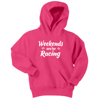 Weekends Are For Racing Youth Hoodie or T-Shirt - Turn Left T-Shirts Racewear