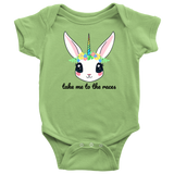 Take Me To The Races Unicorn Onesie - Turn Left T-Shirts Racewear