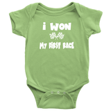 I Won My First Race Onesie - Turn Left T-Shirts Racewear
