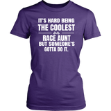 Coolest Race Aunt T-Shirt - Turn Left T-Shirts Racewear