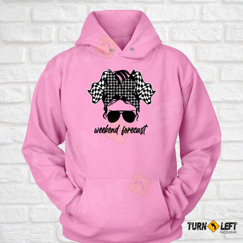 Messy Bun Racing Hoodie Dirt Track Racing Sweatshirts for Women.