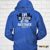 Life Is Better At The Racetrack Hoodie. Women Dirt Track Racing Hooded Sweatshirts