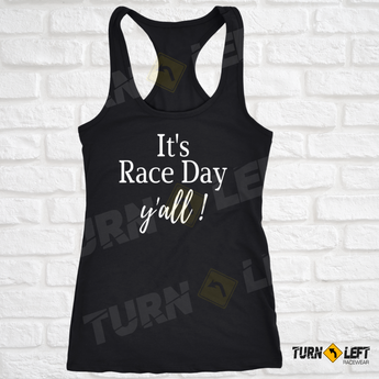 It's Race Day Y'all Tank Top. Dirt Track Racing Tank Tops for Women.