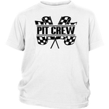 Pit Crew (BLK) Youth Hoodie or T-Shirt - Turn Left T-Shirts Racewear
