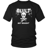 Built Not Bought Racing Skull T-Shirt - Turn Left T-Shirts Racewear