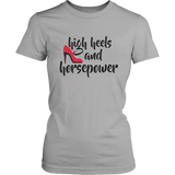 High Heels And Horsepower Women T-Shirt - Turn Left T-Shirts Racewear