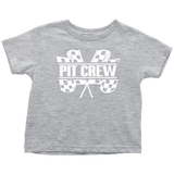 Pit Crew (WHT) Toddler T-Shirt - Turn Left T-Shirts Racewear