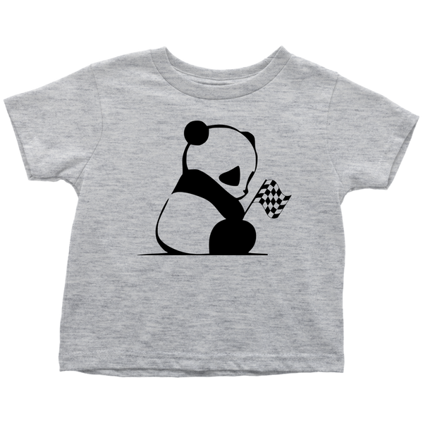 Panda Bear Racing Toddler T-Shirt - Turn Left T-Shirts Racewear