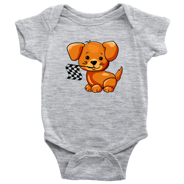 Puppy Racing Fan Onesie - Turn Left T-Shirts Racewear