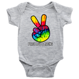 Peace Love And Racing Onesie - Turn Left T-Shirts Racewear