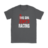 This Girl Loves Racing Classic T-Shirt - Turn Left T-Shirts Racewear