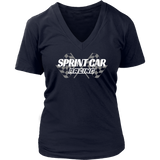 Sprint Car Racing V-Neck T-Shirt - Turn Left T-Shirts Racewear