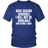 Race Season Schedule T-Shirt - Turn Left T-Shirts Racewear