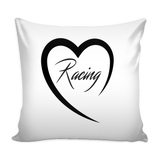 Racing Heart Pillow Cover - Turn Left T-Shirts Racewear