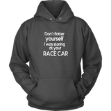 Don't Flatter Yourself Hoodie - Turn Left T-Shirts Racewear