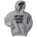Dirt Is My Favorite Color Hoodie (BLK) - Turn Left T-Shirts Racewear