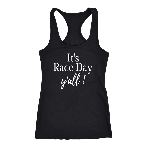 It's Race Day Y'all Women's Tank Top - Turn Left T-Shirts Racewear