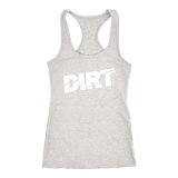 DIRT Racerback Tank Top - Turn Left T-Shirts Racewear