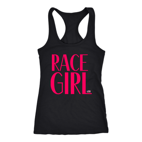 Race Girl USA Tank Top - Turn Left T-Shirts Racewear