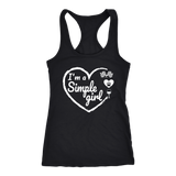I'm A Simple Girl Racerback Tank Top - Turn Left T-Shirts Racewear