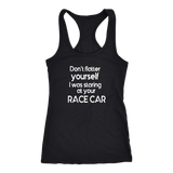Don't Flatter Yourself Tank Top - Turn Left T-Shirts Racewear