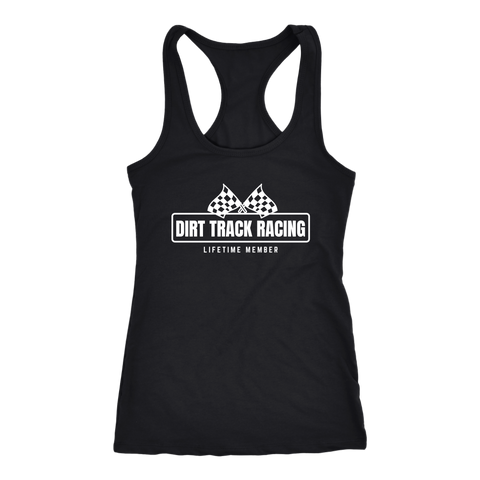 Dirt Track Racing Lifetime Member Tank Top - Turn Left T-Shirts Racewear