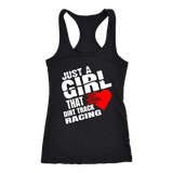 Just A Girl That Loves Dirt Track Racing Tank Top - Turn Left T-Shirts Racewear