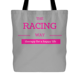 The Racing Way Therapy For a Happy Life Tote Bag - Turn Left T-Shirts Racewear