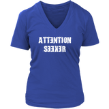 Attention Seeker V-Neck T-Shirt - Turn Left T-Shirts Racewear